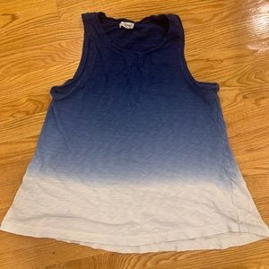 Artisan Ny Tops - Blue to white faded tank top